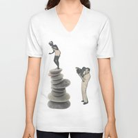 movie posters V-neck T-shirts featuring Movie by Krysucat
