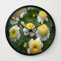 daisies Wall Clocks featuring Daisies by Vitta