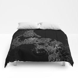 Auckland map New Zeland Comforters