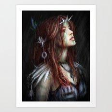 Silver Thorns Art Print