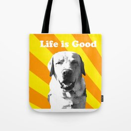 Sunny pup Tote Bag