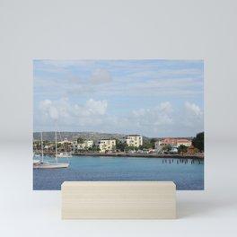 Bonaire Kralendijk Harbor Sailing Boats Mini Art Print
