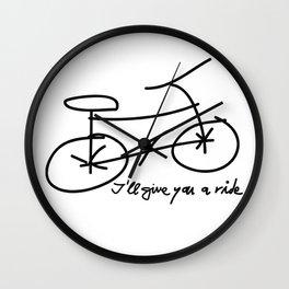 Bike drawing Wall Clock