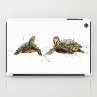 turtles iPad Cases featuring Turtles by Nicola Girello