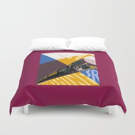 Travel South for Winter Sunshine Duvet Cover