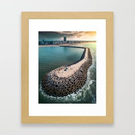 Coast of Belgium Framed Art Print