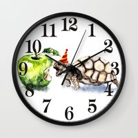 turtle Wall Clocks featuring Turtle by Anna Shell