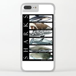 Sharks of the World Clear iPhone Case
