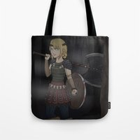 how to train your dragon Tote Bags featuring Astrid - How To Train Your Dragon by Kallian