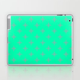 Ornamental Pattern with Mint and Grey Colourway Laptop & iPad Skin