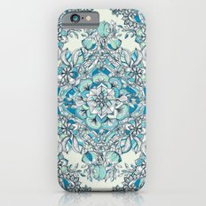 Floral Diamond Doodle in Teal and Turquoise iPhone 6 Slim Case