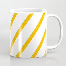 Yellow summer stripes Mug