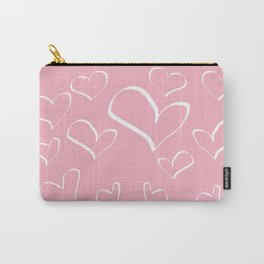 Doodle and hearts Carry-All Pouch