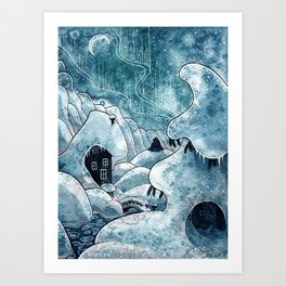 Winter in The Moomin Valley Art Print