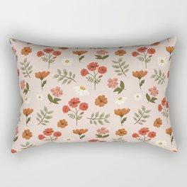 Among the Wildflowers Pattern Rectangular Pillow