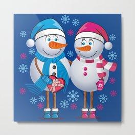Snowmans Metal Print