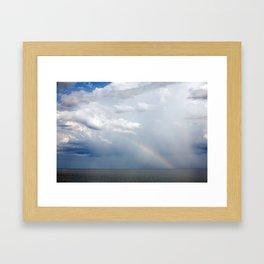 Rainbow Over Superior Framed Art Print