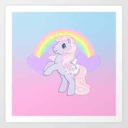 g1 my little pony lickety split Art Print