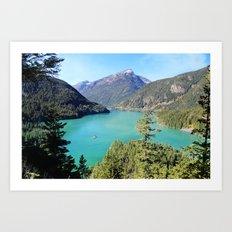Diablo Lake Art Print