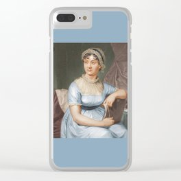 Jane Austen Clear iPhone Case