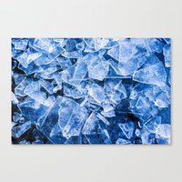 ice Canvas Prints featuring Ice by digital2real