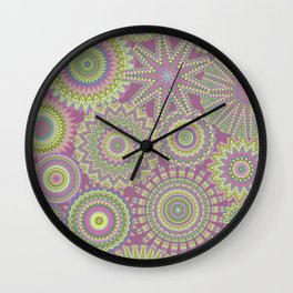 Kaleidoscopic-Fairytale colorway Wall Clock