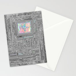 Peaking Through Stationery Cards