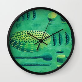 Peas with Bowls Wall Clock