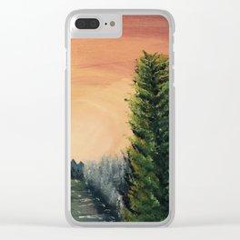 Cliffs Landscape by Noelle's Art Loft Clear iPhone Case