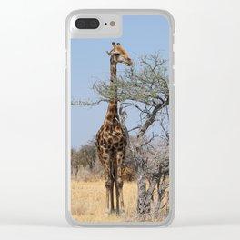 NAMIBIA ... eating giraffe Clear iPhone Case