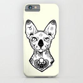 Sphynx Tattooed iPhone Case