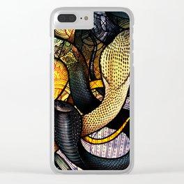 Equatorial Spitting Cobra Clear iPhone Case