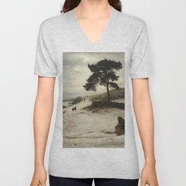 John Everett Millais - Blow Blow Thou Winter Wind Unisex V-Neck