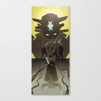 shadow of the colossus Canvas Prints featuring Shadow of the Colossus - Illustration by Kim Herbst