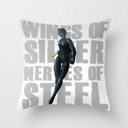 Silverhawks Steelheart Throw Pillow