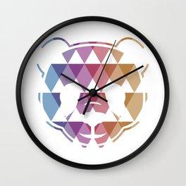 PANDA TRIANGLE (white) Wall Clock