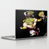 dragonball z Laptop & iPad Skins featuring Broly Dragonball Z by bernardtime