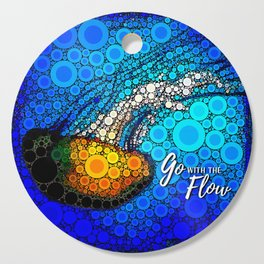 Ocean jellyfish photo bubble art | Go with the flow Cutting Board