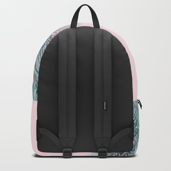 Duotone Fern Jungle on Soft Pink Backpack