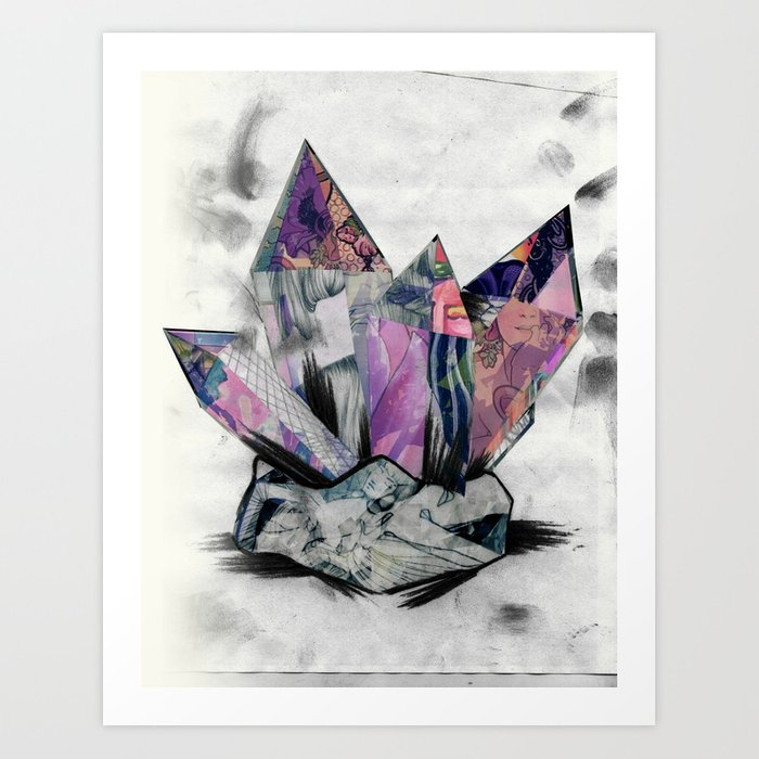 Mineral Collage Art Print