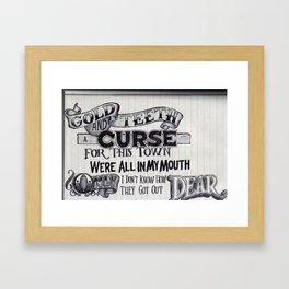 New Slang Framed Art Print