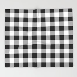 Black and White Check Throw Blanket