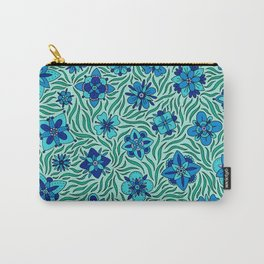 Summer Flowers Green Carry-All Pouch
