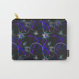 Flower Swirl Pattern Night Carry-All Pouch