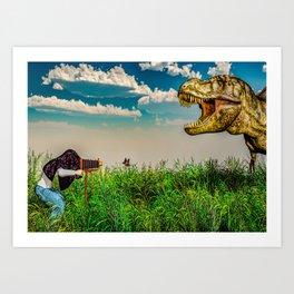 Wildlife Photographer Photo Bomb Art Print
