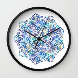 Mandala Little Mermaid Ocean Blue Wall Clock