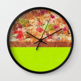 Layers Floral Lime Wall Clock