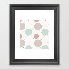 Shapes Boho Framed Art Print