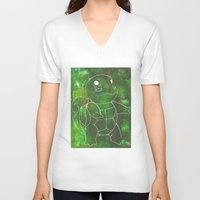 squirtle V-neck T-shirts featuring Squirtle by pkarnold + The Cult Print Shop
