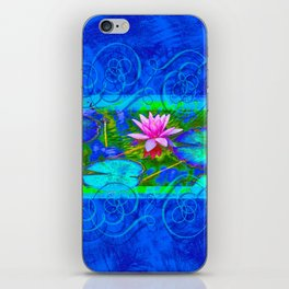Lotus Blossom Blues iPhone Skin